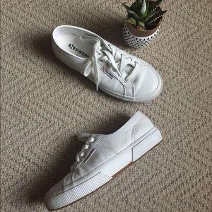 Superga White Leather Sneakers